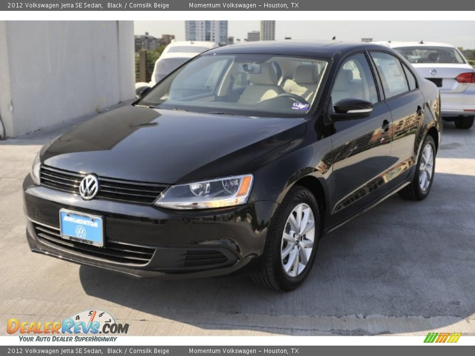 2012 volkswagen jetta se sedan black cornsilk beige photo 3. Black Bedroom Furniture Sets. Home Design Ideas