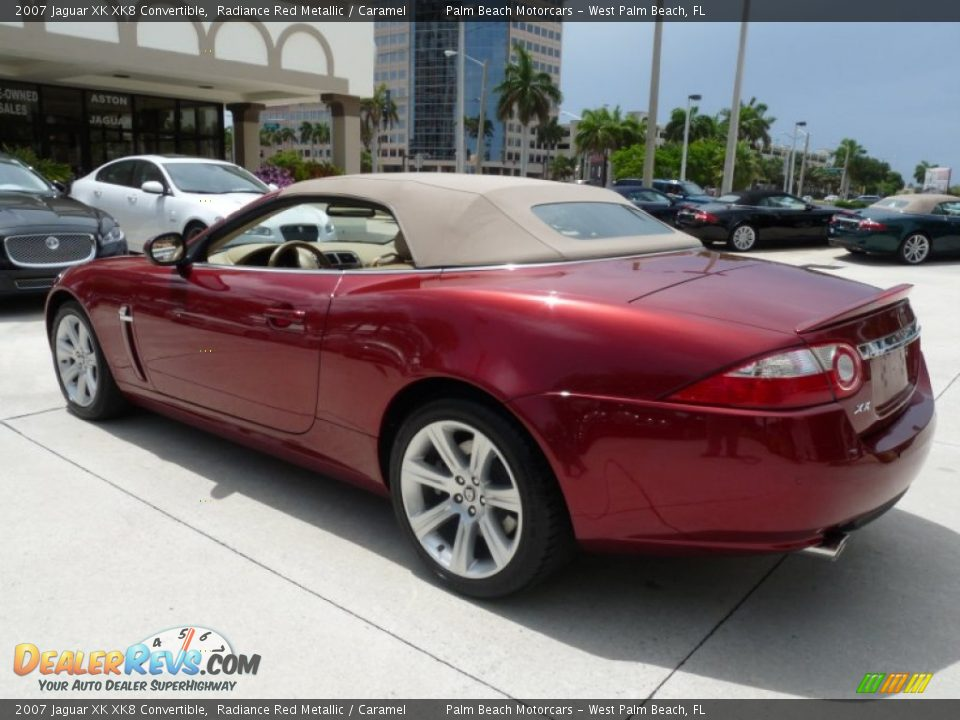 radiance red metallic 2007 jaguar xk xk8 convertible photo. Black Bedroom Furniture Sets. Home Design Ideas