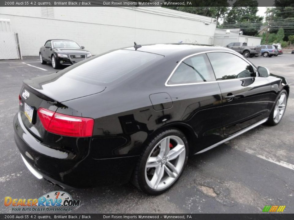 Brilliant Black 2008 Audi S5 4 2 Quattro Photo 8