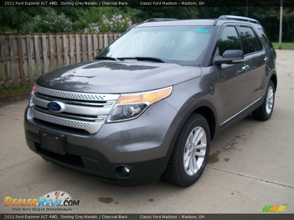 2011 Ford Explorer XLT 4WD Sterling Grey Metallic / Charcoal Black