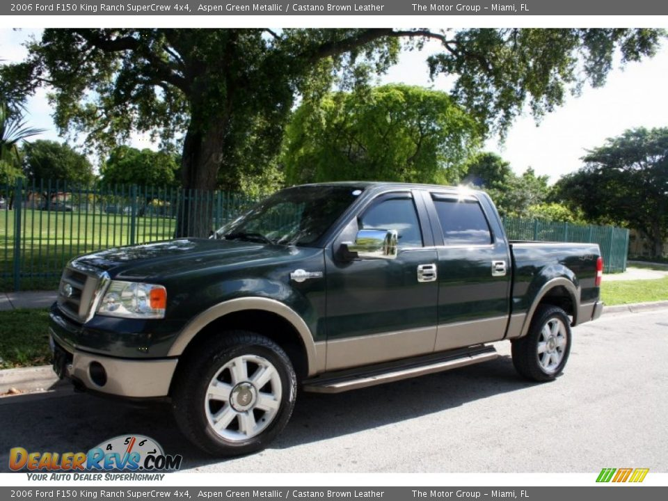 2006 ford f150 king ranch supercrew 4x4 aspen green metallic castano brown leather photo 2. Black Bedroom Furniture Sets. Home Design Ideas
