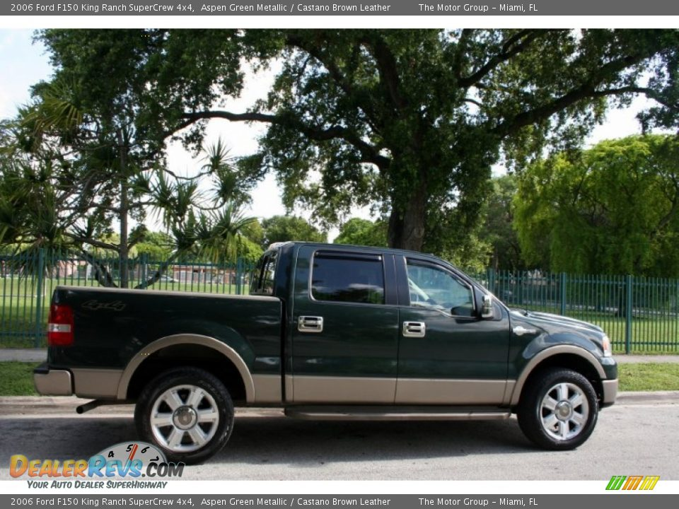 2006 ford f150 king ranch supercrew 4x4 aspen green metallic castano brown leather photo 11. Black Bedroom Furniture Sets. Home Design Ideas