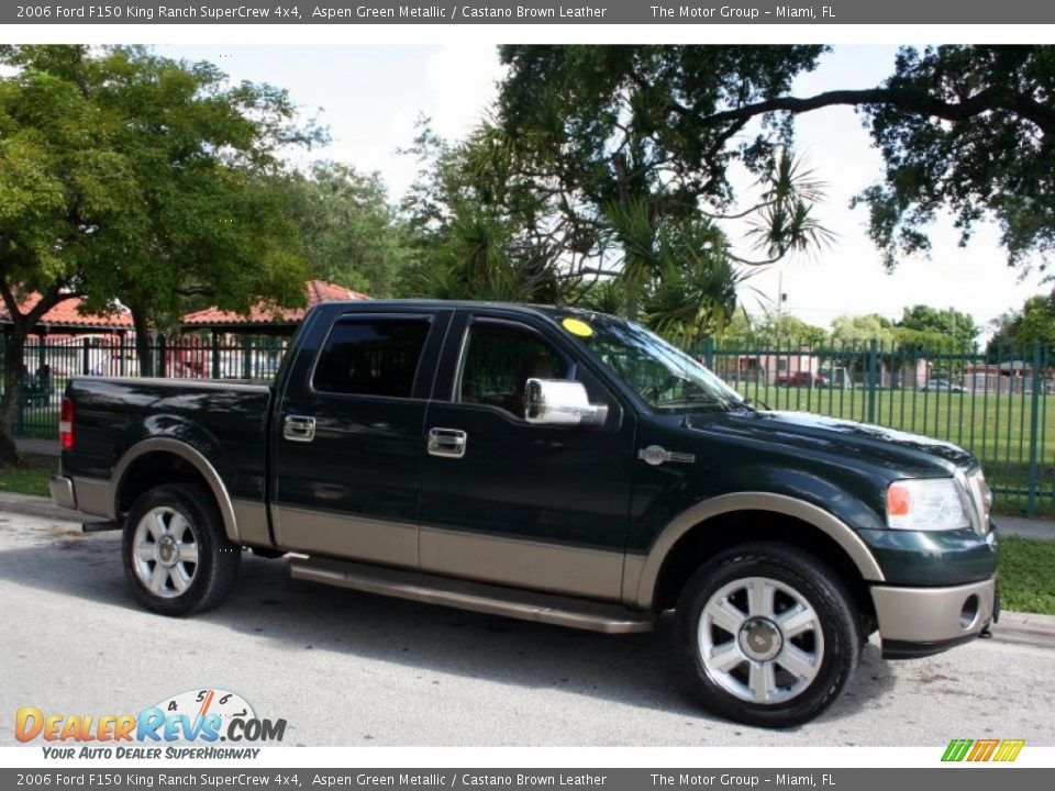 2006 ford f150 king ranch supercrew 4x4 aspen green metallic castano brown leather photo 14. Black Bedroom Furniture Sets. Home Design Ideas