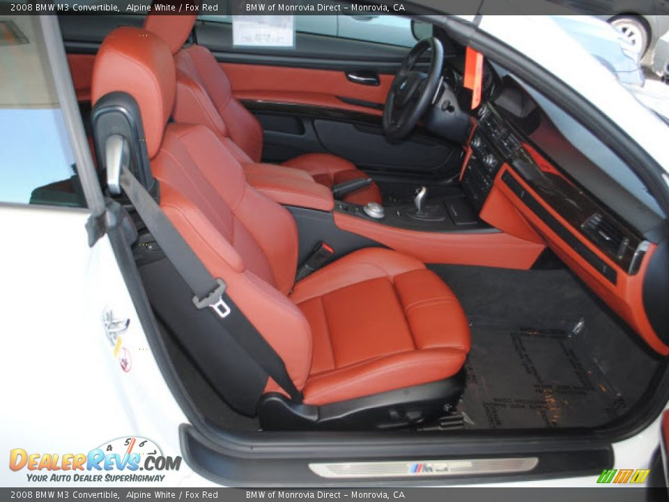 Fox Red Interior 2008 Bmw M3 Convertible Photo 4