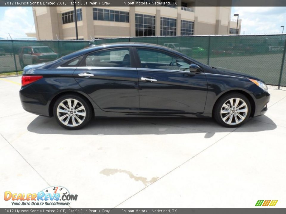 pacific blue pearl 2012 hyundai sonata limited 2 0t photo 2. Black Bedroom Furniture Sets. Home Design Ideas