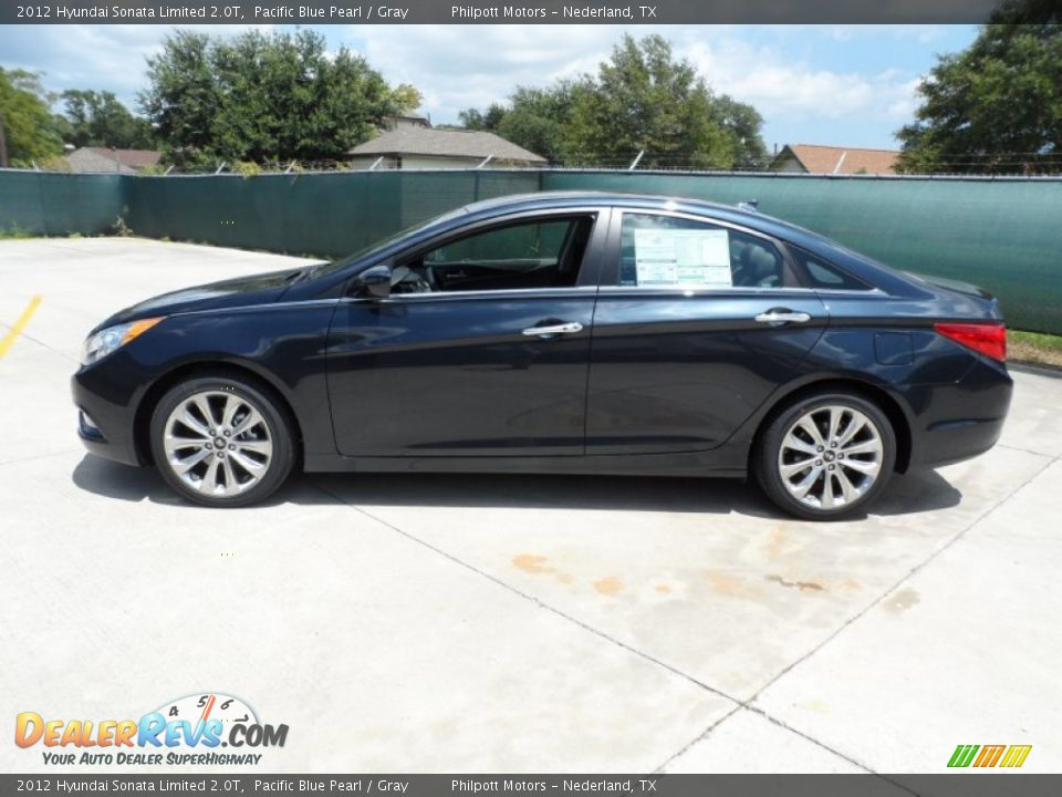 2012 Hyundai Sonata Limited 2 0T Pacific Blue Pearl Gray