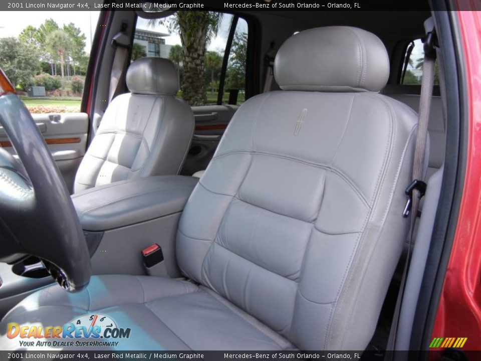 Medium Graphite Interior 2001 Lincoln Navigator 4x4 Photo 12