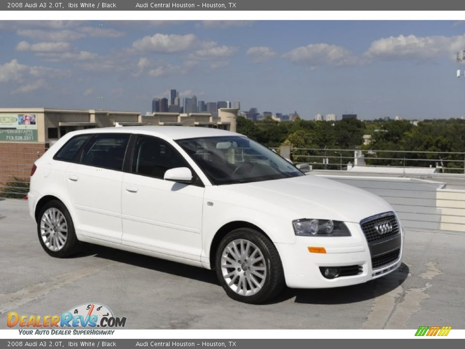 2008 audi a3 2 0t ibis white black photo 1. Black Bedroom Furniture Sets. Home Design Ideas