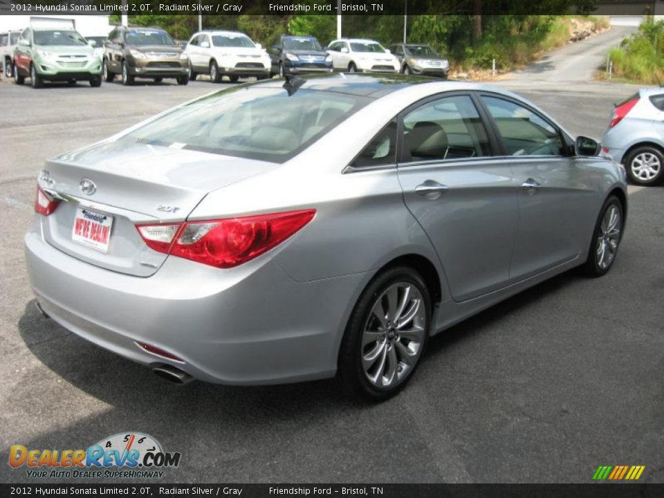 2012 hyundai sonata limited 2 0t radiant silver gray photo 6. Black Bedroom Furniture Sets. Home Design Ideas