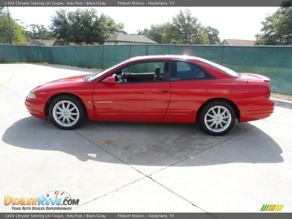 1999 chrysler sebring lxi coupe indy red black gray. Cars Review. Best American Auto & Cars Review