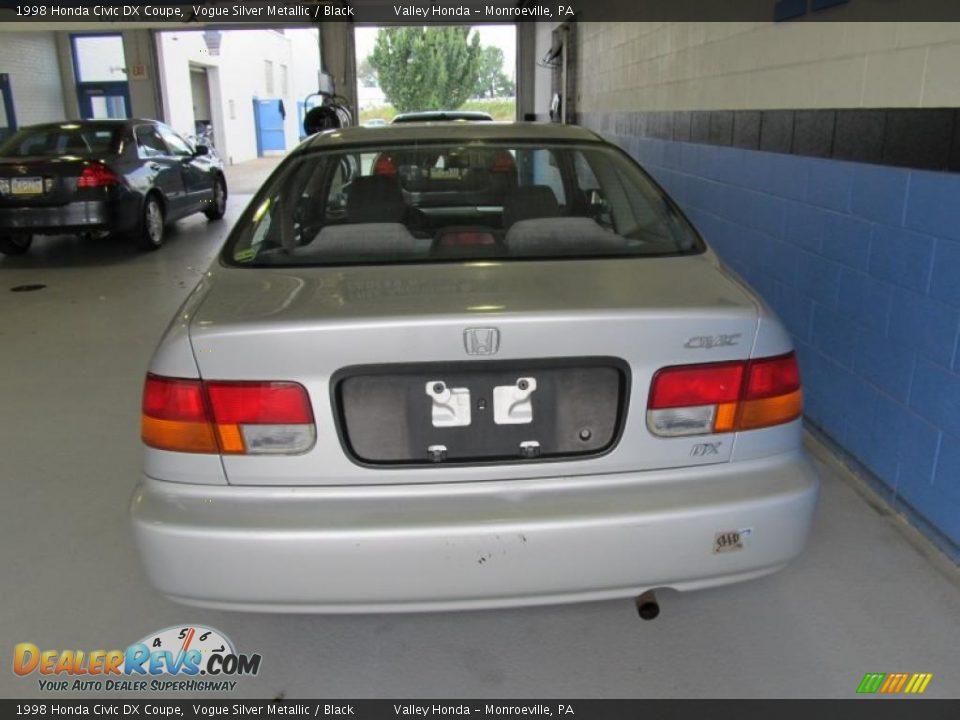 1998 honda civic dx coupe vogue silver metallic black for Honda civic dx 1998