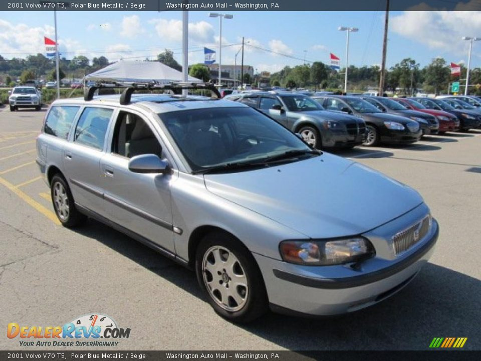 2001 Volvo V70 T5 Polar Blue Metallic / Beige Photo #9