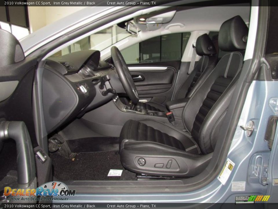 Black Interior 2010 Volkswagen Cc Sport Photo 8
