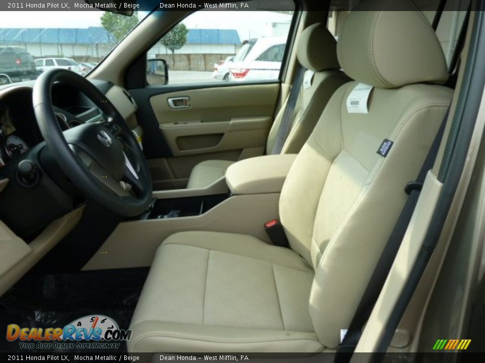 beige interior 2011 honda pilot lx photo 10. Black Bedroom Furniture Sets. Home Design Ideas