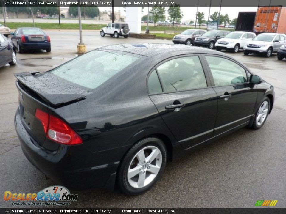 2008 honda civic ex l sedan nighthawk black pearl gray. Black Bedroom Furniture Sets. Home Design Ideas