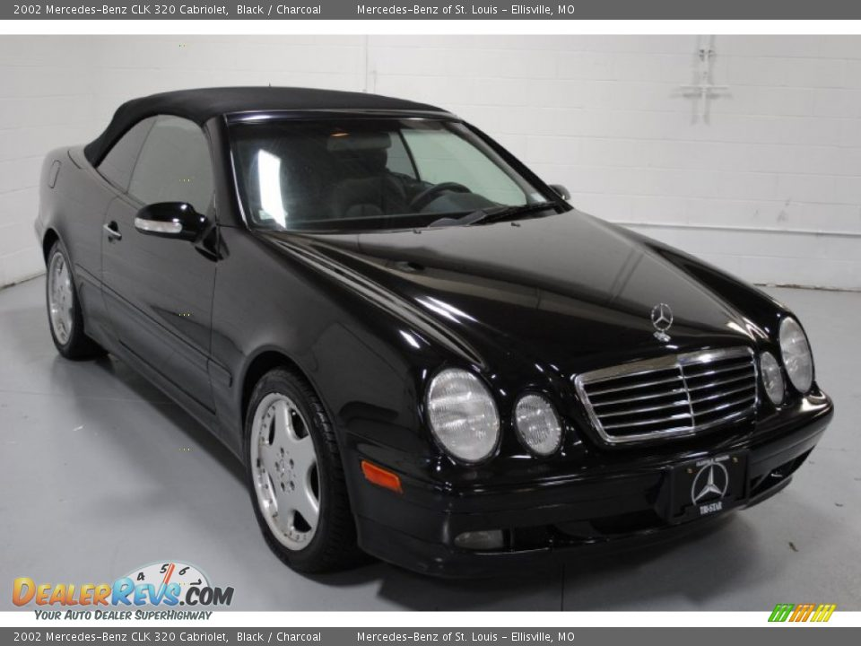 2002 mercedes benz clk 320 cabriolet black charcoal photo 1. Black Bedroom Furniture Sets. Home Design Ideas