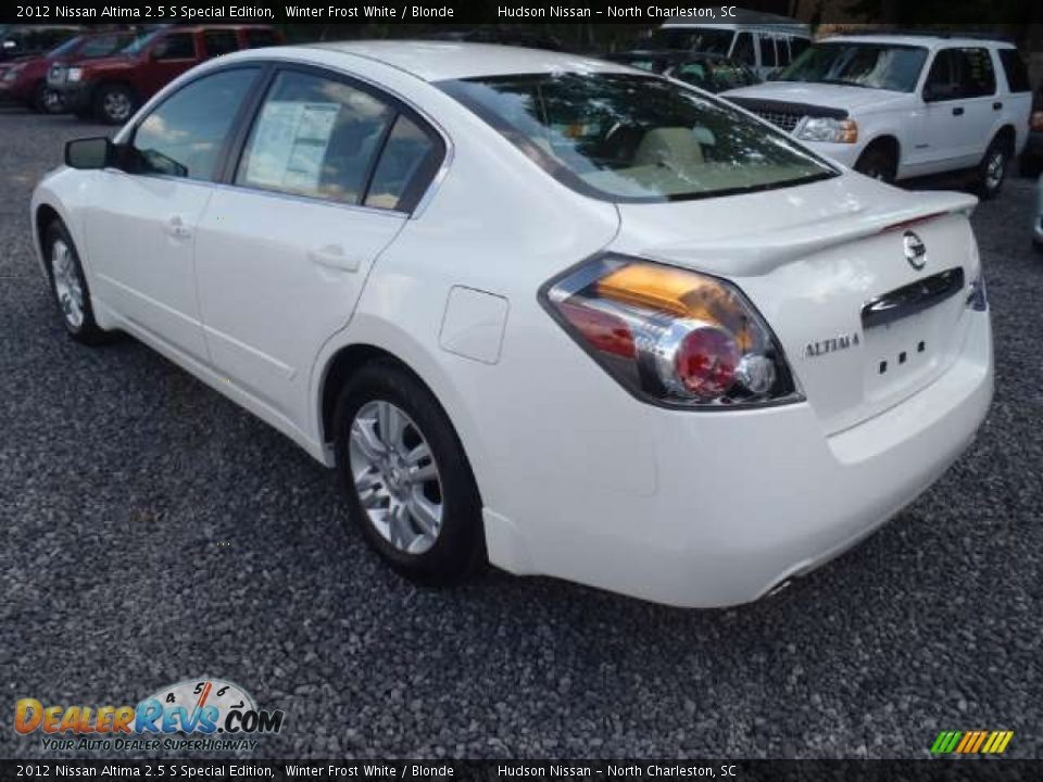 2012 nissan altima 2 5 s special edition winter frost white blonde photo 3. Black Bedroom Furniture Sets. Home Design Ideas