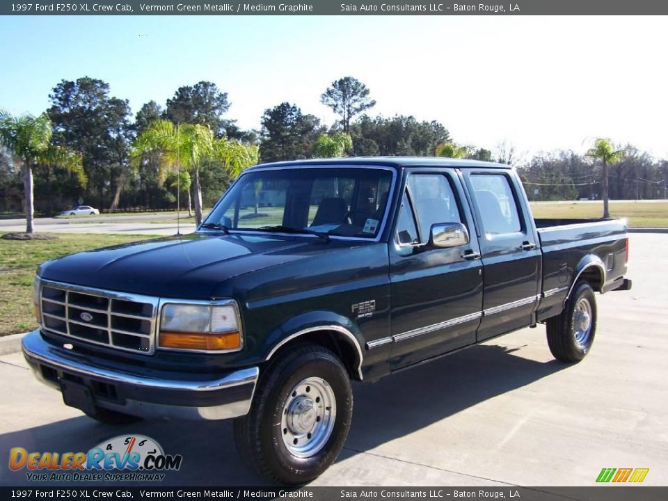 1997 ford f250 xl crew cab vermont green metallic medium graphite photo 7. Black Bedroom Furniture Sets. Home Design Ideas