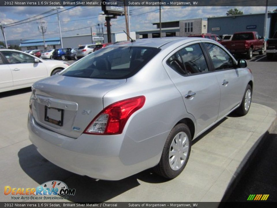 2012 nissan versa 1 6 sv sedan brilliant silver metallic charcoal photo 7. Black Bedroom Furniture Sets. Home Design Ideas