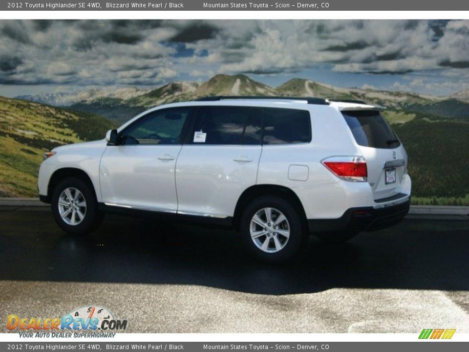 2012 Toyota Highlander Se 4wd Blizzard White Pearl Black