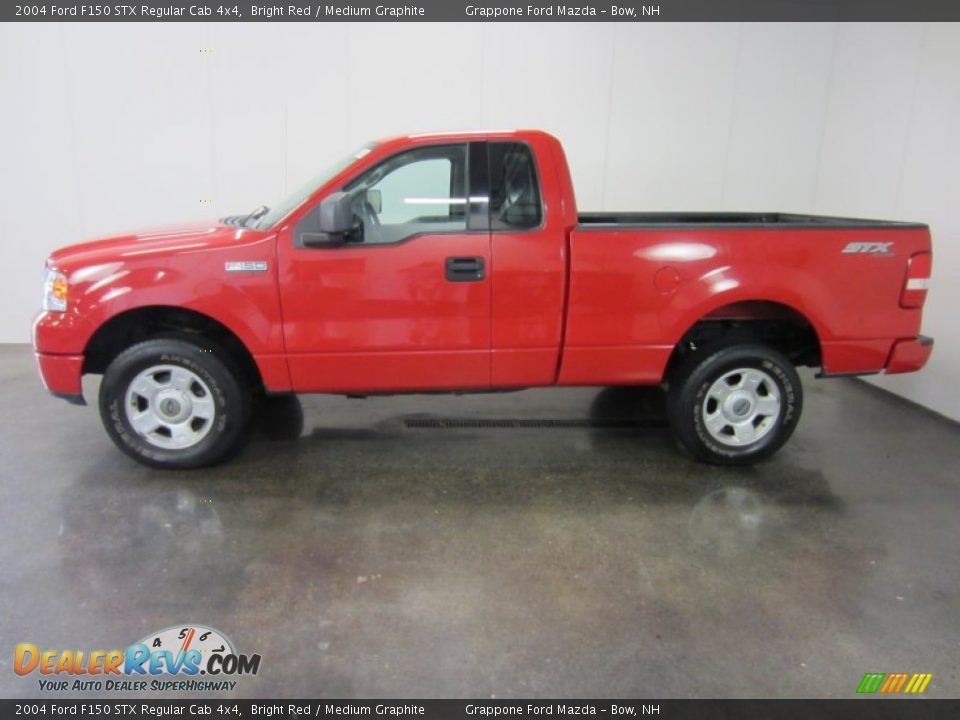 bright red 2004 ford f150 stx regular cab 4x4 photo 3. Black Bedroom Furniture Sets. Home Design Ideas