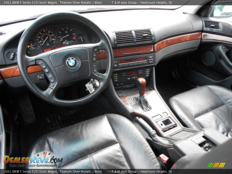 Black Interior 2001 Bmw 5 Series 525i Sport Wagon Photo 5