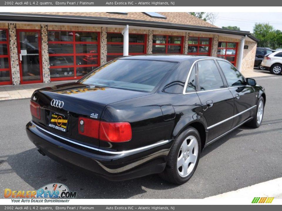 2002 Audi A8 L 4 2 Quattro Ebony Pearl Platinum Photo 3