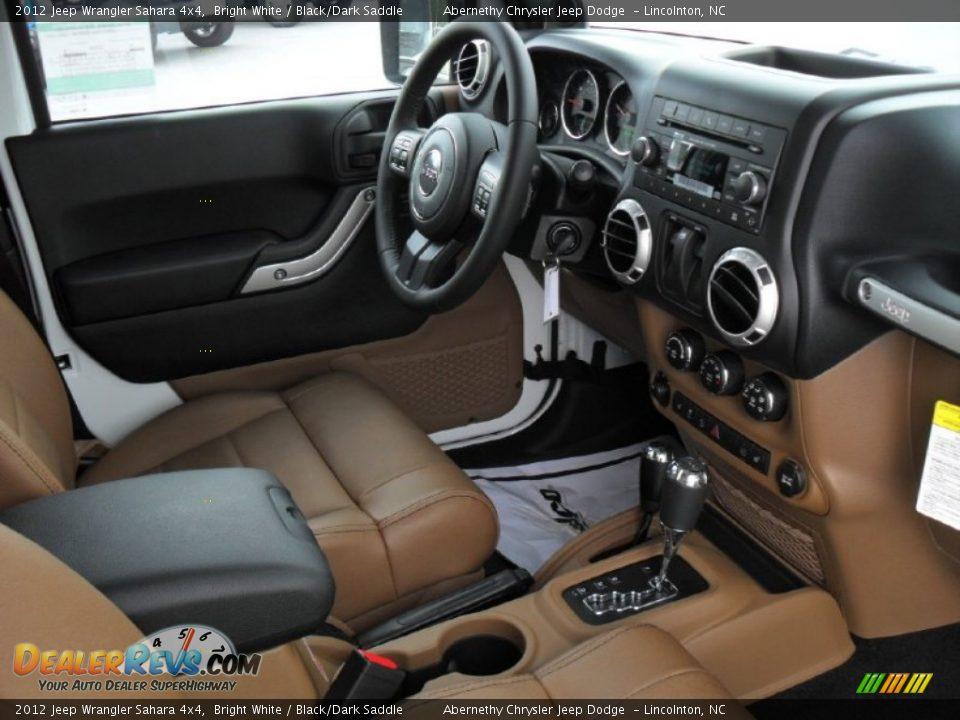 Black Dark Saddle Interior 2012 Jeep Wrangler Sahara 4x4 Photo 20