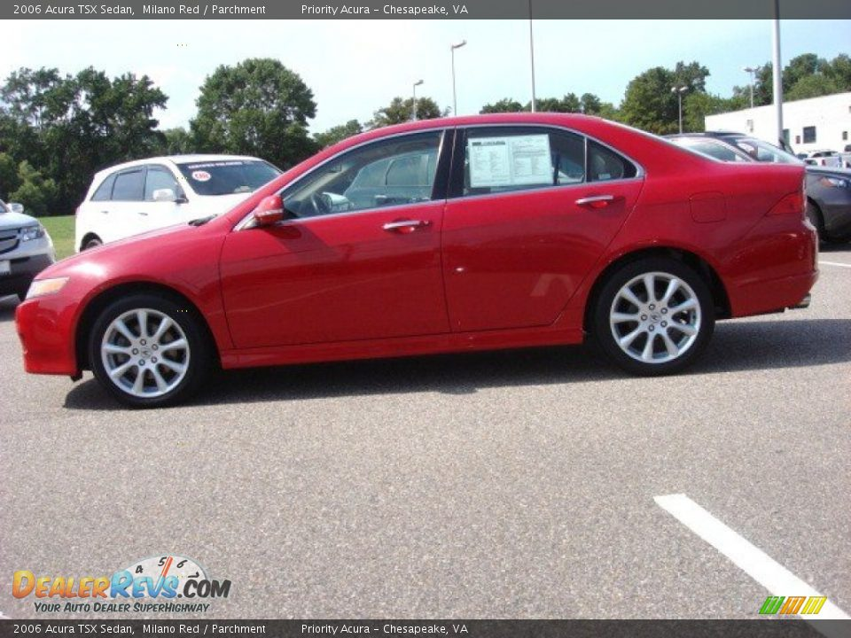 2006 Acura Tsx Sedan Milano Red Parchment Photo 3