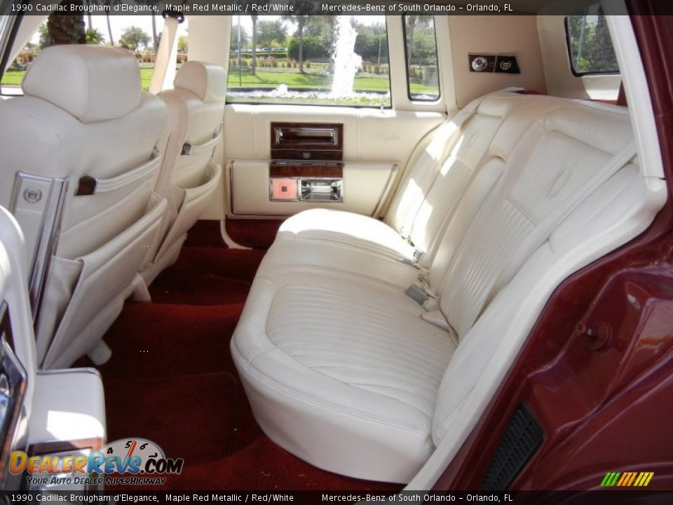 Red White Interior 1990 Cadillac Brougham D 39 Elegance Photo 16