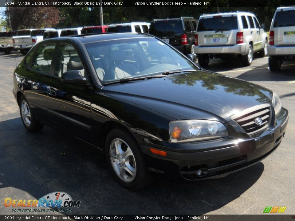 2004 Hyundai Elantra Gt Hatchback Black Obsidian Dark