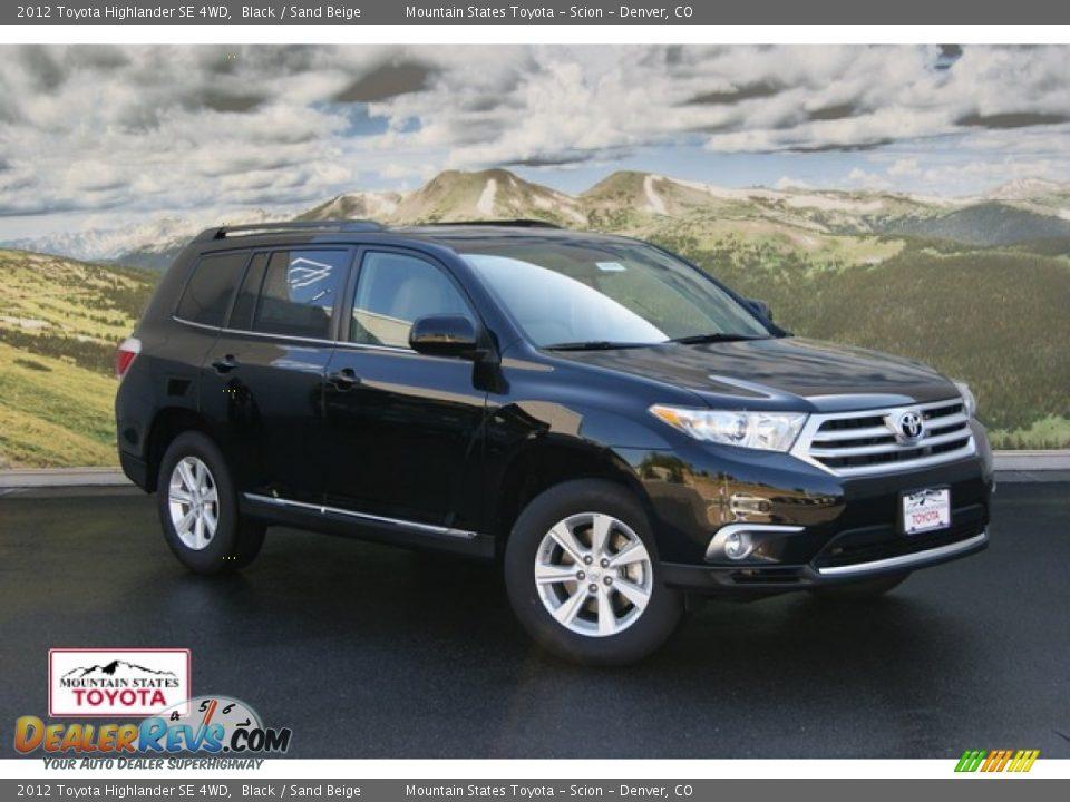 2012 Toyota Highlander Se 4wd Black Sand Beige Photo 1