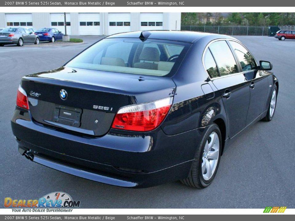 2007 Bmw 5 Series 525i Sedan Monaco Blue Metallic Beige