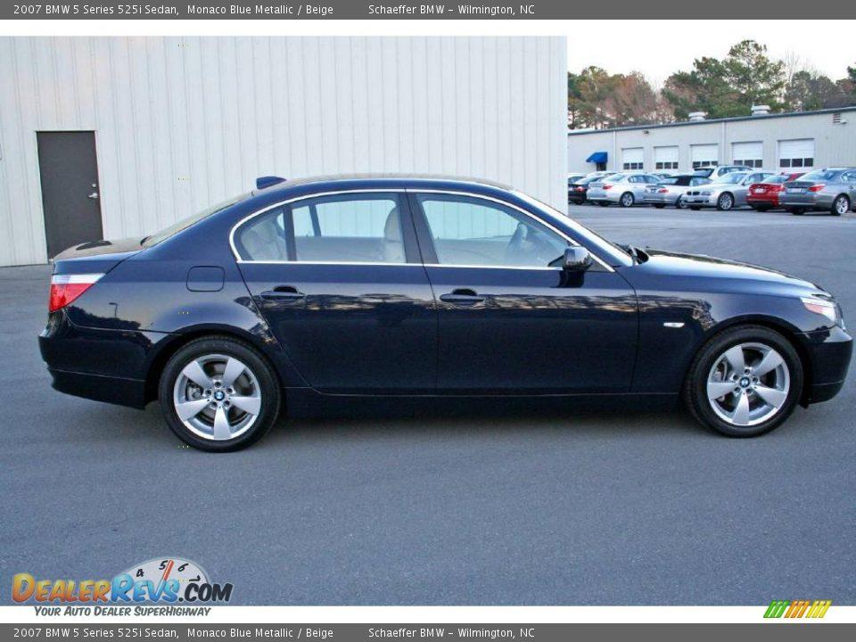 Used Bmw 8 Series >> 2007 BMW 5 Series 525i Sedan Monaco Blue Metallic / Beige Photo #8 | DealerRevs.com