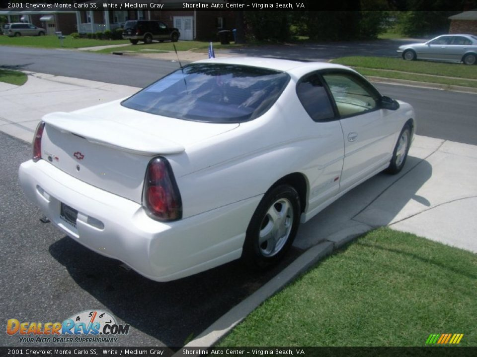 2001 chevrolet monte carlo ss white medium gray photo 5. Black Bedroom Furniture Sets. Home Design Ideas