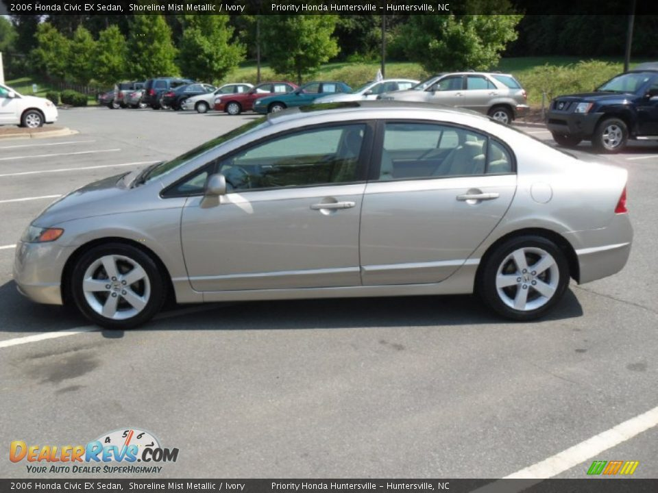2006 honda civic ex sedan shoreline mist metallic ivory. Black Bedroom Furniture Sets. Home Design Ideas