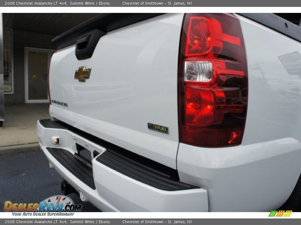 2008 Chevrolet Avalanche LT 4x4 Summit White / Ebony Photo #14
