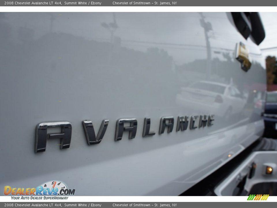 2008 Chevrolet Avalanche LT 4x4 Summit White / Ebony Photo #15