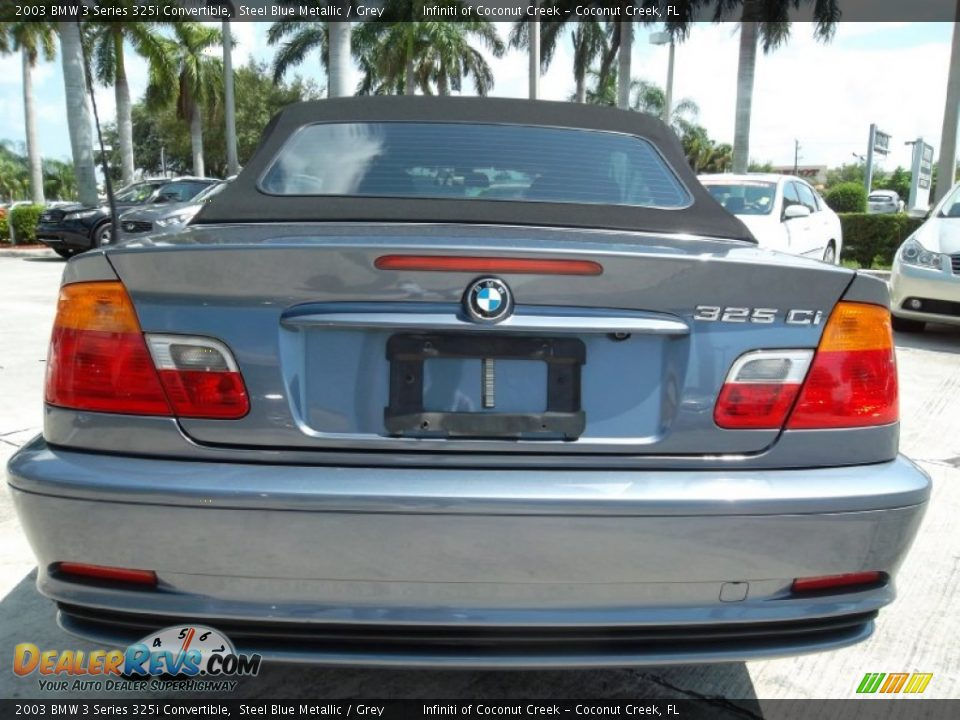 2003 BMW 3 Series 325i Convertible Steel Blue Metallic / Grey Photo #7