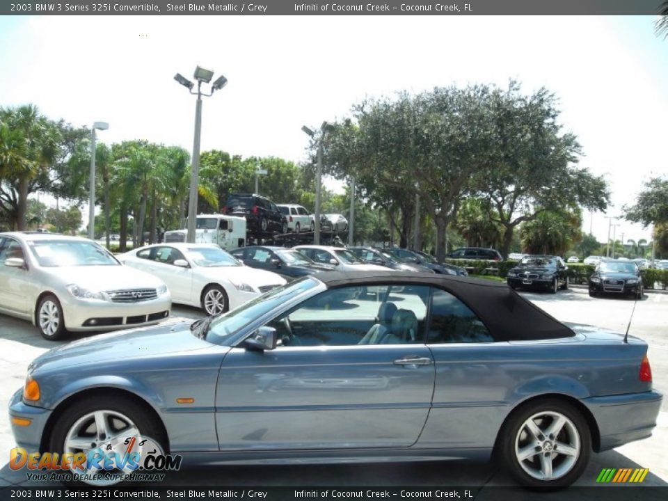2003 BMW 3 Series 325i Convertible Steel Blue Metallic / Grey Photo #12