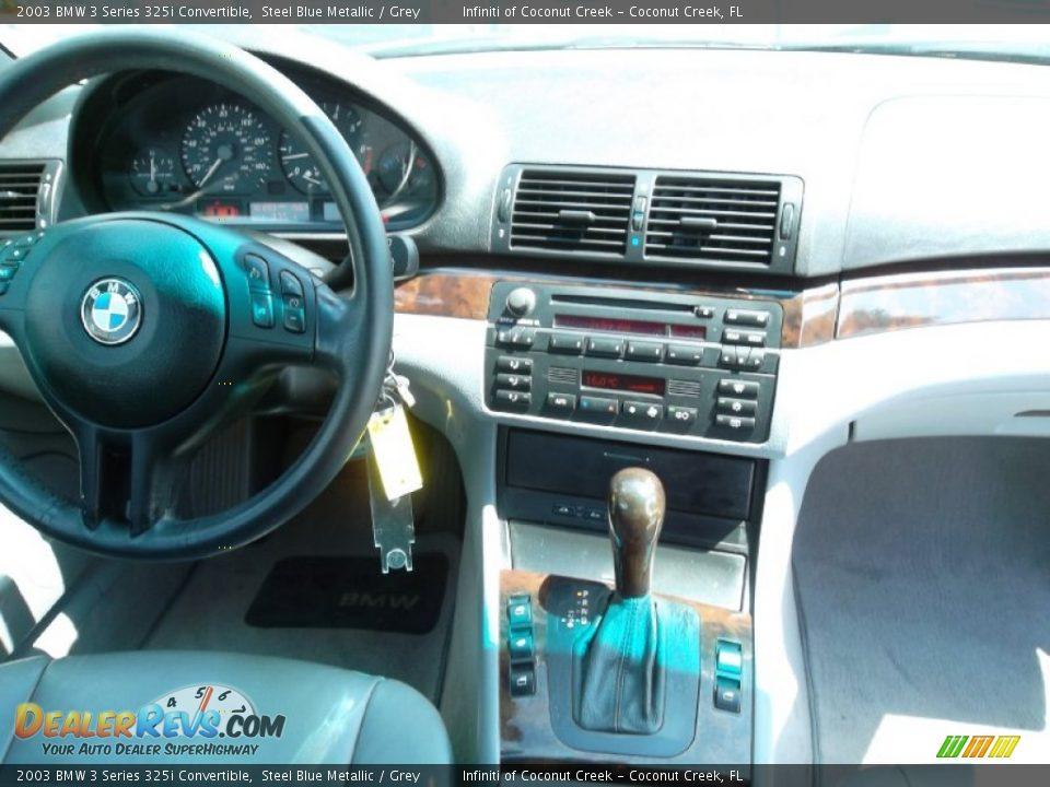 2003 BMW 3 Series 325i Convertible Steel Blue Metallic / Grey Photo #23