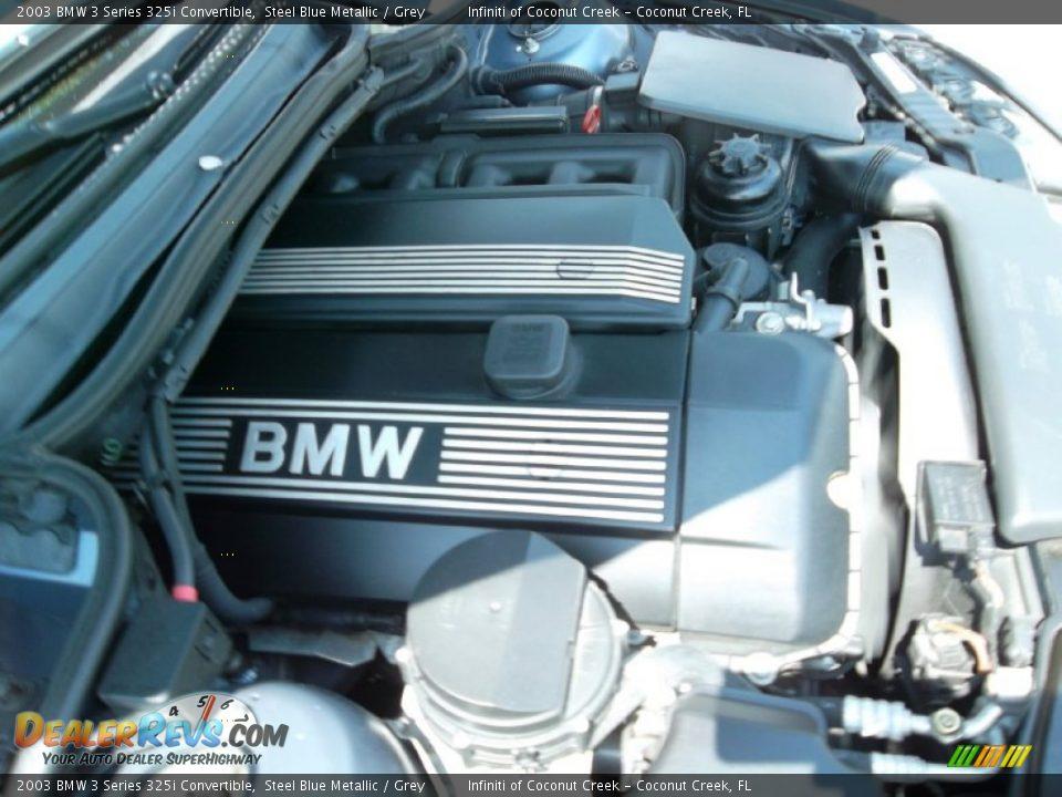 2003 BMW 3 Series 325i Convertible Steel Blue Metallic / Grey Photo #29