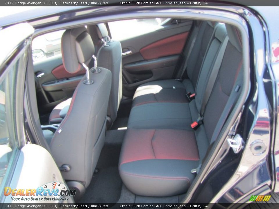 black red interior 2012 dodge avenger sxt plus photo 12. Black Bedroom Furniture Sets. Home Design Ideas