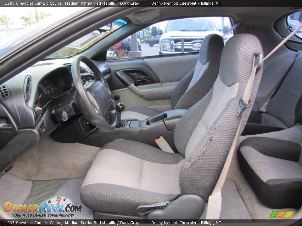Dark Gray Interior 1995 Chevrolet Camaro Coupe Photo 3