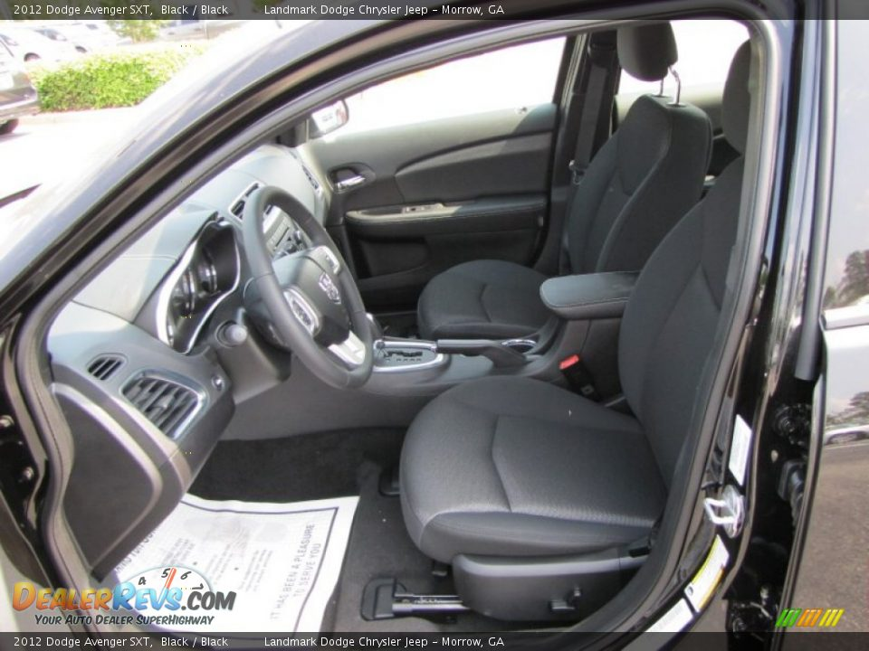 black interior 2012 dodge avenger sxt photo 6. Black Bedroom Furniture Sets. Home Design Ideas