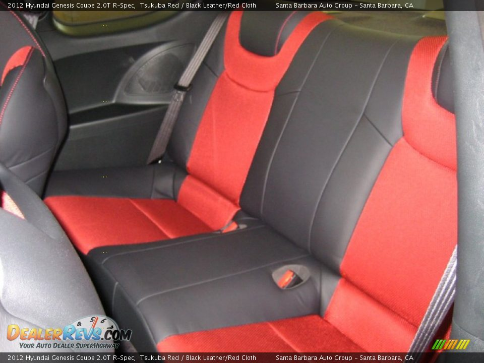 black leather red cloth interior 2012 hyundai genesis coupe 2 0t r spec photo 4. Black Bedroom Furniture Sets. Home Design Ideas