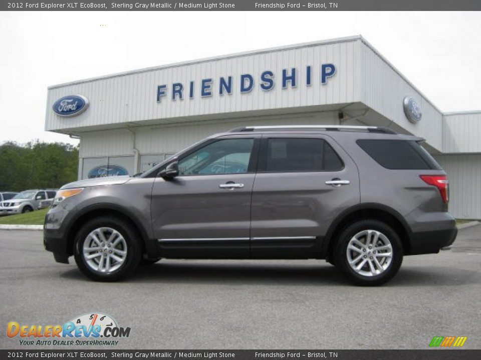 2012 Ford Explorer XLT EcoBoost Sterling Gray Metallic / Medium Light