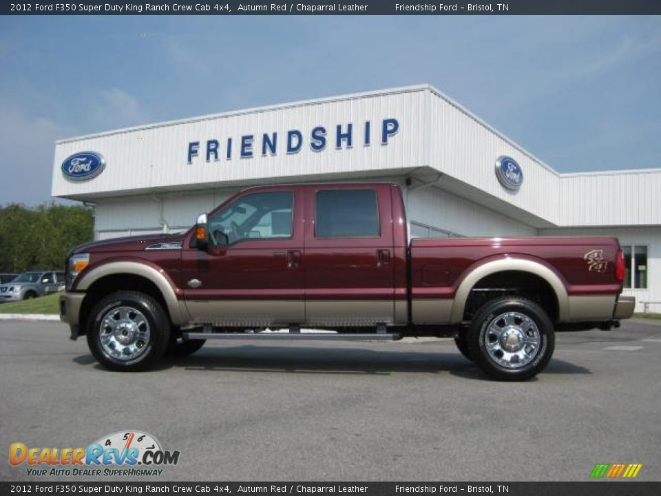 2012 ford f350 super duty king ranch crew cab 4x4 autumn red chaparral leather photo 1. Black Bedroom Furniture Sets. Home Design Ideas