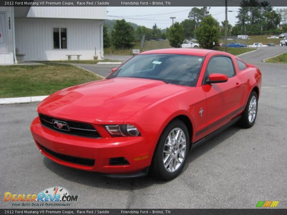 2012 ford mustang v6 premium coupe race red saddle photo 2. Black Bedroom Furniture Sets. Home Design Ideas