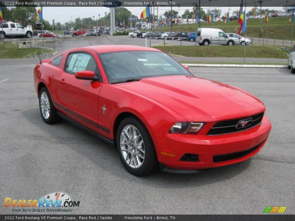 2012 ford mustang v6 premium coupe race red saddle photo 4. Black Bedroom Furniture Sets. Home Design Ideas